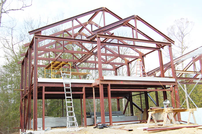 Andar steel sample steel home model steel frame homes for Steel frame home plans
